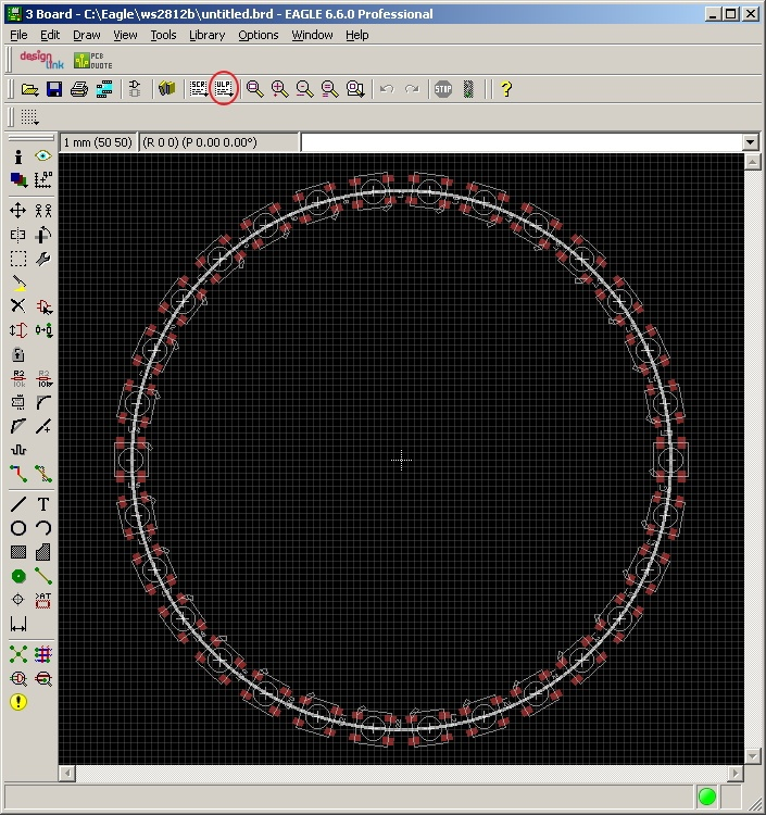 Написание скрипта расстановки элементов по кругу для Eagle CAD - 4