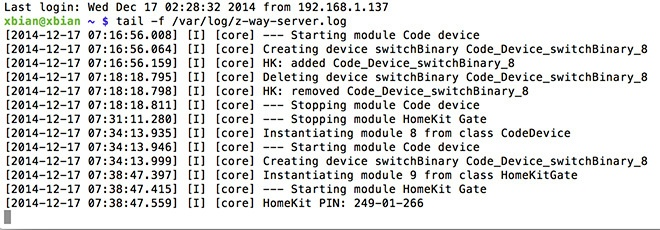 HomeKit для Z-Wave, Raspberry GPIO и устройств с HTTP API с помощью контроллера RaZberry - 12