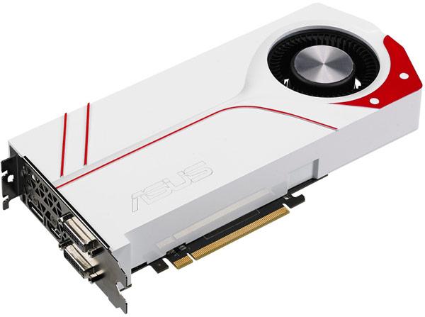 Печатная плата 3D-карты Asus Turbo GTX 970 отличется от референсного образца, а кожух охладителя — окрашен в белый цвет