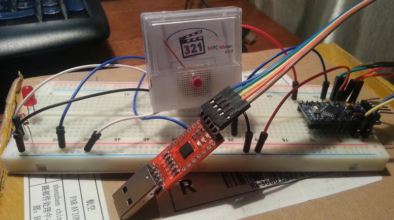 MPCMeter — индикация прогресса просмотра видео. Arduino + JavaScript - 9