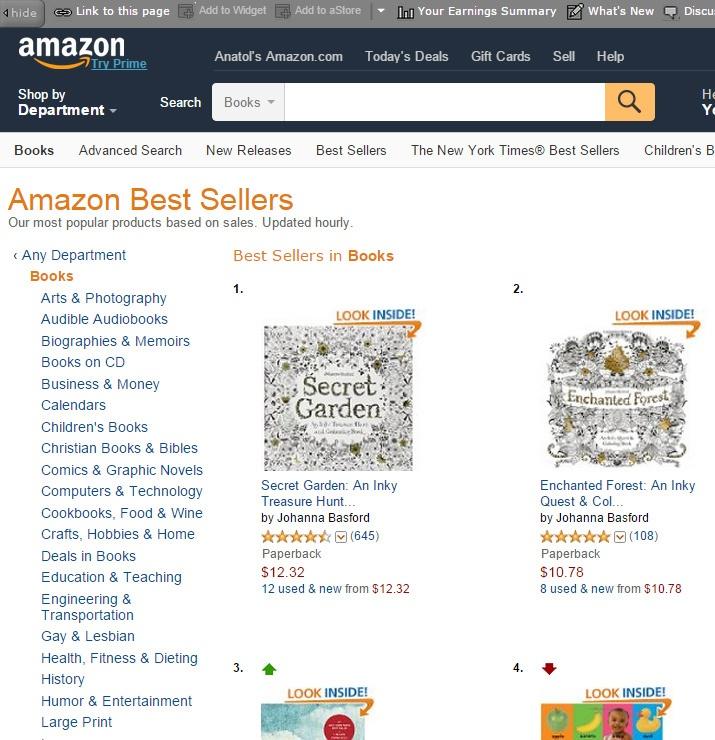 Раскраски для взрослых — лидеры продаж на Amazon - 2