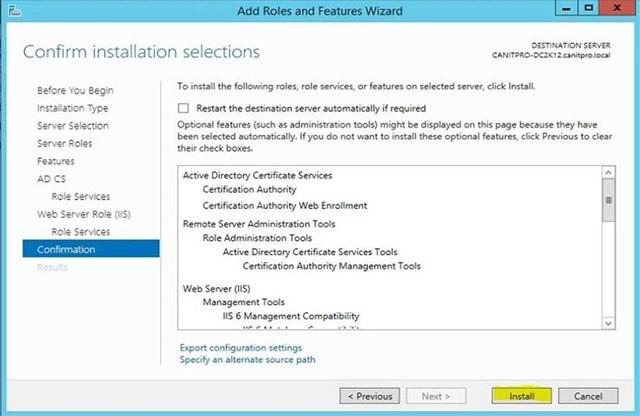 Шаг за шагом: Миграция Active Directory Certificate Service с Windows Server 2003 на Windows Server 2012 R2 - 18
