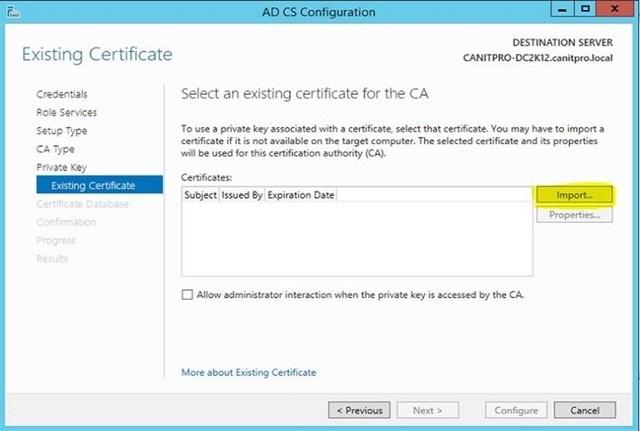 Шаг за шагом: Миграция Active Directory Certificate Service с Windows Server 2003 на Windows Server 2012 R2 - 27