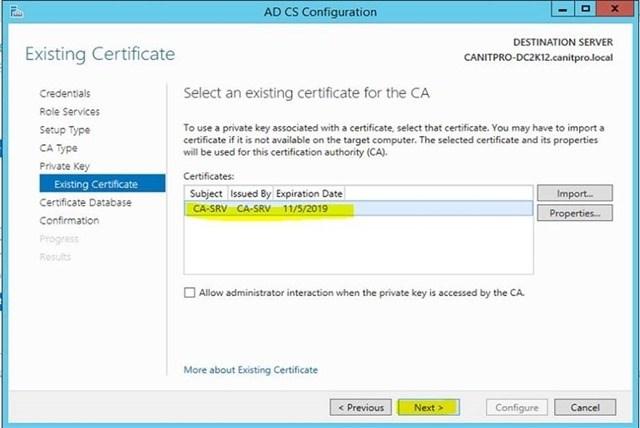 Шаг за шагом: Миграция Active Directory Certificate Service с Windows Server 2003 на Windows Server 2012 R2 - 29