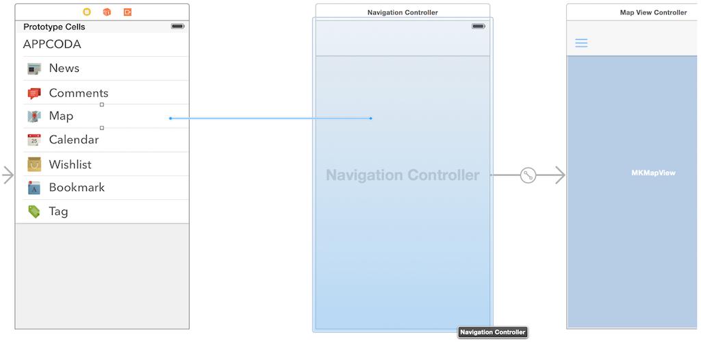Добавляем панель бокового меню в свое iOS-приложение - 14