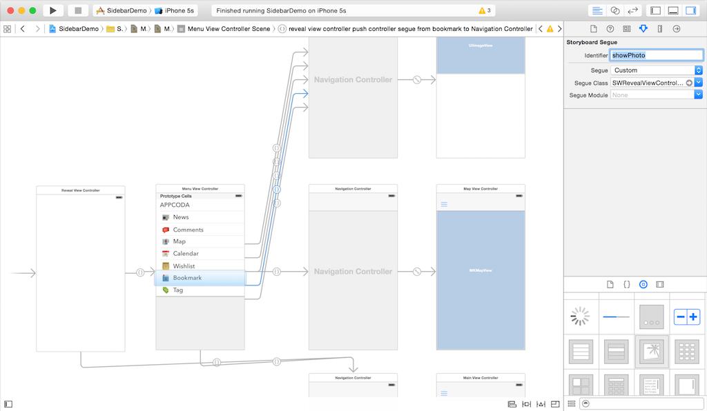 Добавляем панель бокового меню в свое iOS-приложение - 15