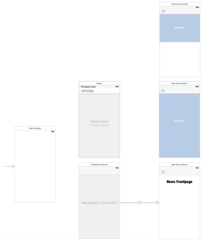 Добавляем панель бокового меню в свое iOS-приложение - 3