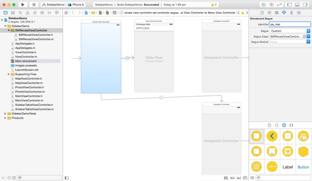 Добавляем панель бокового меню в свое iOS-приложение - 8