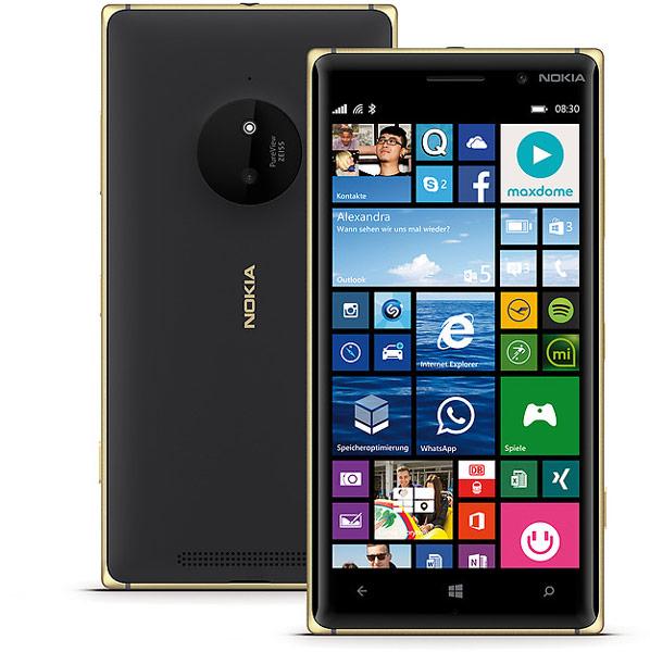 Модели Lumia 830 и 930 Gold Edition предложены с белыми и черными задними панелями