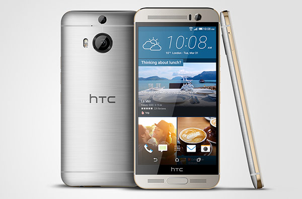 Смартфон HTC One M9+ оснащен дактилоскопическим датчиком