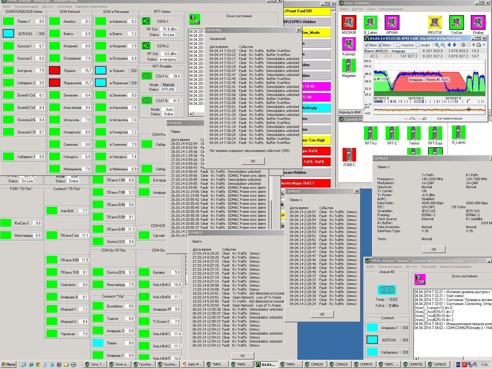 Аппаратный зал (про инфраструктуру спутниковой сети и осциллограф) - 40