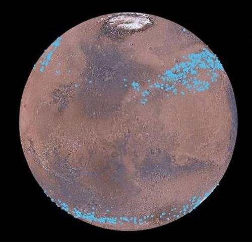 Поверхность Марса может быть покрыта гигантскими ледниками - 1
