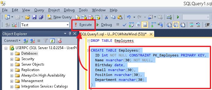 Учебник по языку SQL (DDL, DML) на примере диалекта MS SQL Server. Часть первая - 3