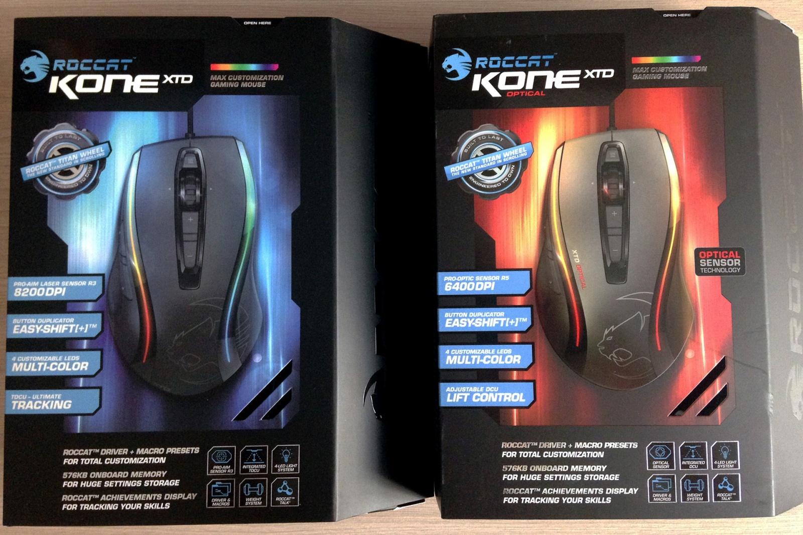 Мышки топ-сегмента – Roccat Kone XTD и Roccat Kone XTD Optical - 1