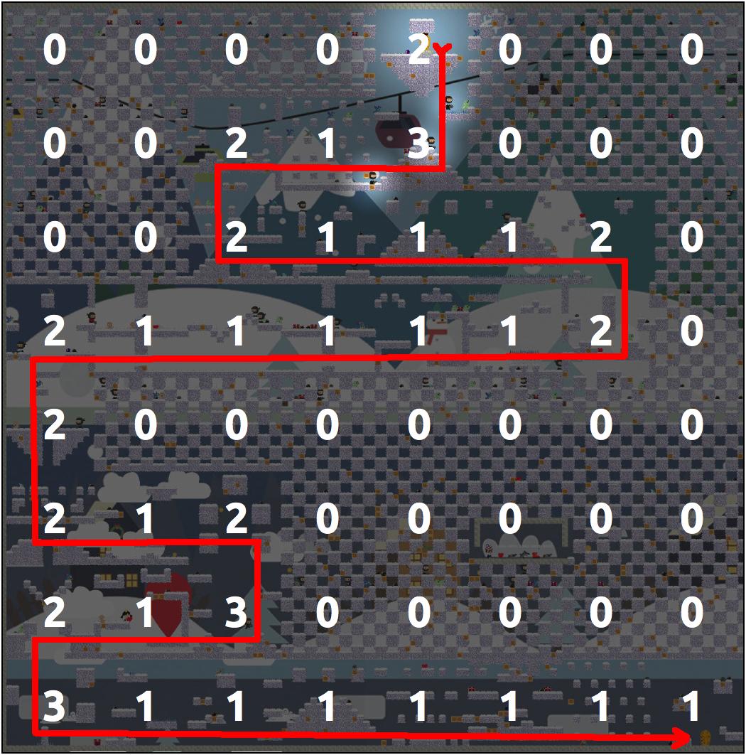 Алгоритмы интеллектуальной автогенерации уровней в iOS игре - 9