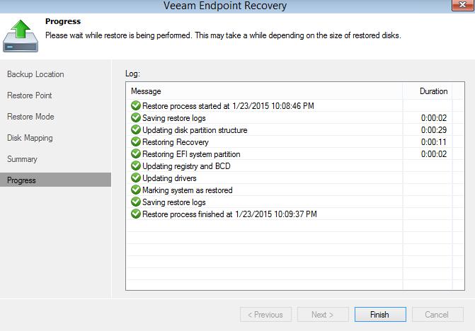 Обзор Veeam Endpoint Backup Free — продукта для бесплатного резервного копирования ноутбуков и компьютеров под управлением Windows - 16