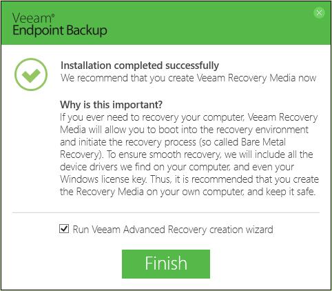 Обзор Veeam Endpoint Backup Free — продукта для бесплатного резервного копирования ноутбуков и компьютеров под управлением Windows - 2