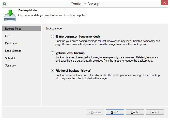 Обзор Veeam Endpoint Backup Free — продукта для бесплатного резервного копирования ноутбуков и компьютеров под управлением Windows - 6