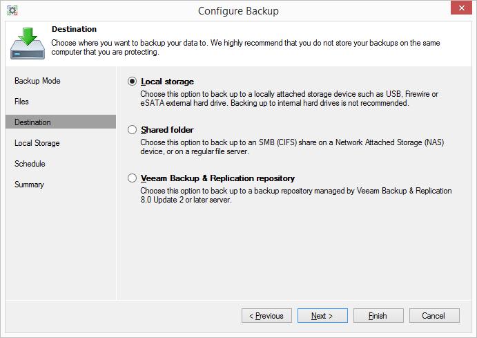Обзор Veeam Endpoint Backup Free — продукта для бесплатного резервного копирования ноутбуков и компьютеров под управлением Windows - 7