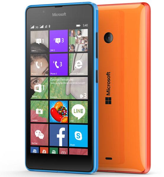 Смартфон Microsoft Lumia 540 Dual SIM оснащен фронтальной камерой разрешением 5 Мп