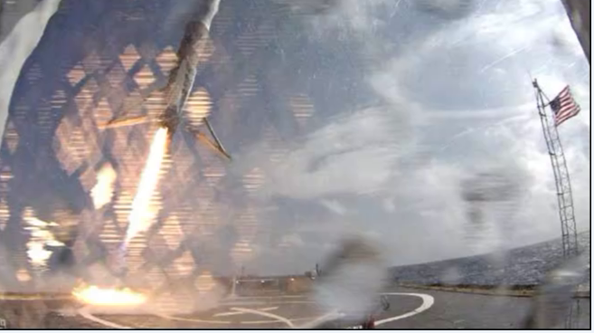 Видео и подробности неудачной посадки Falcon-9R - 2