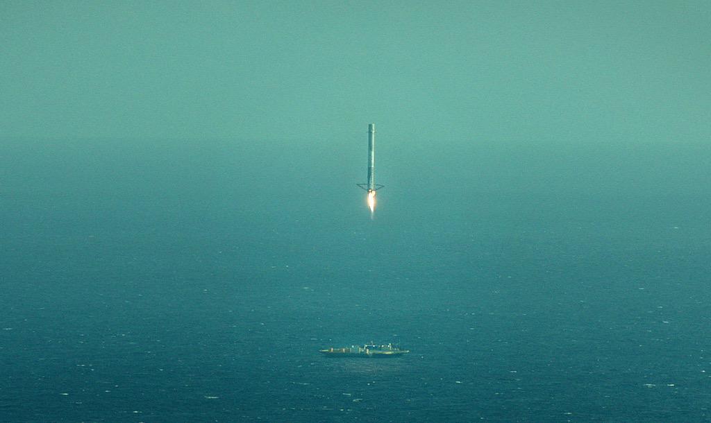 Видео и подробности неудачной посадки Falcon-9R - 4