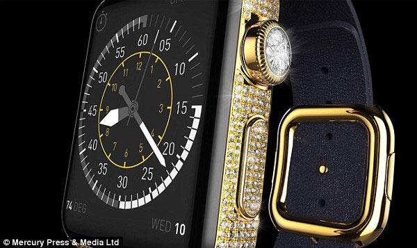 Корпус, усыпанный бриллиантами, и ремешок из кожи питона призваны украсить часы Apple Watch