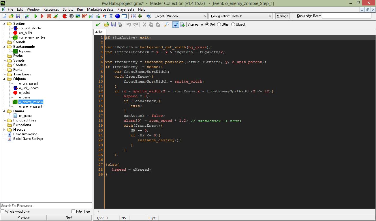 Разработка простой игры в Game Maker. Эпизод 0. Первые строки - 1