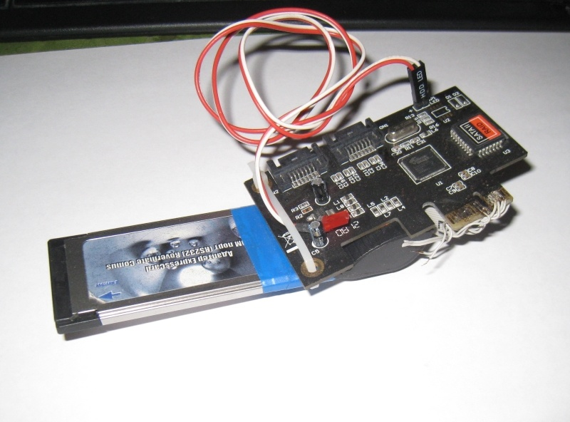 Самодельный NAS из нетбука с переделанным PCI express SATA контроллером под ExpressCard-34 - 6