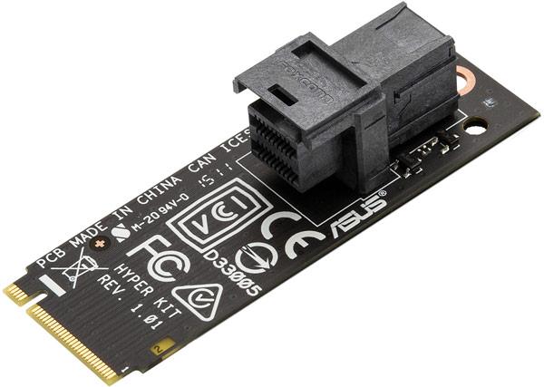 Для этого достаточно обновить UEFI BIOS и в виде опции — использовать карту расширения Asus Hyper Kit