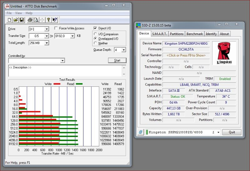 Обзор твердотельного накопителя HyperX Predator PCI-E - 8
