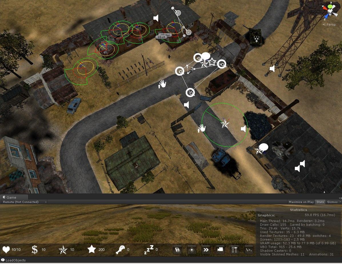 Unity3d. Реализация зон видимости и слышимости - 2