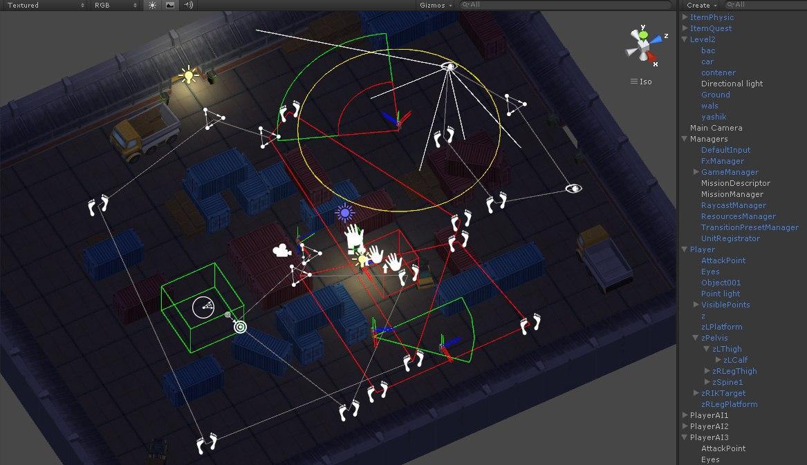 Unity3d. Реализация зон видимости и слышимости - 1