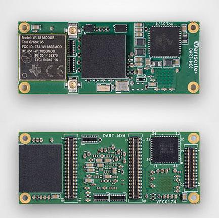 Размеры печатной платы Variscite DART-MX6 — всего 20 х 50 мм