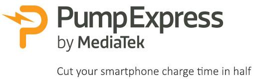 Технология быстрой зарядки MediaTek Pump Express Plus позволяет зарядить батарею на 75% емкости приблизительно за тридцать минут