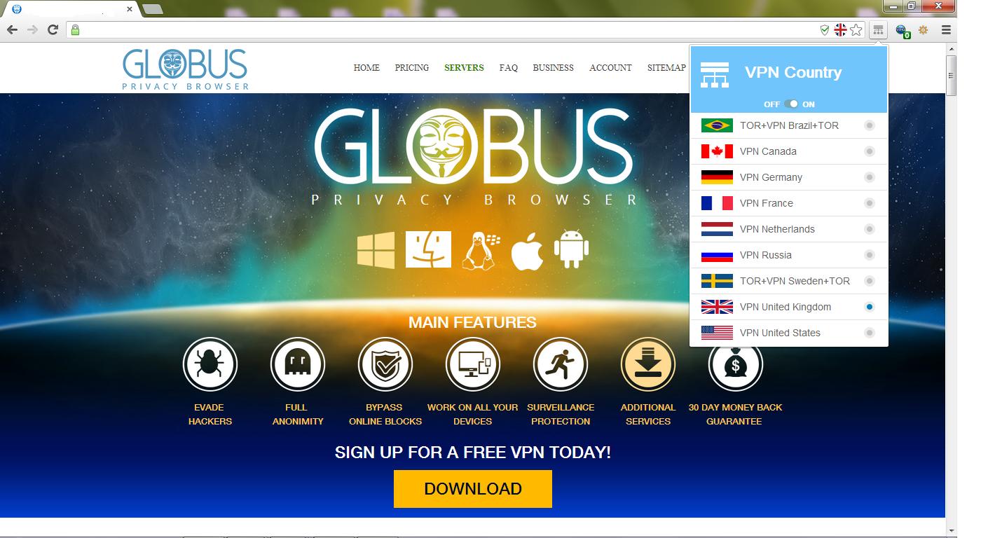 Globus: браузер для параноиков собирает деньги на IndieGoGo - 1