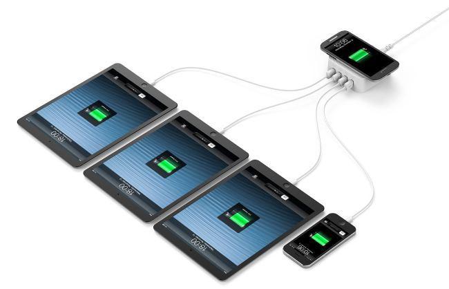 Zendure: зарядное устройство для 4-х гаджетов + 1 место для беспроводной зарядки - 3