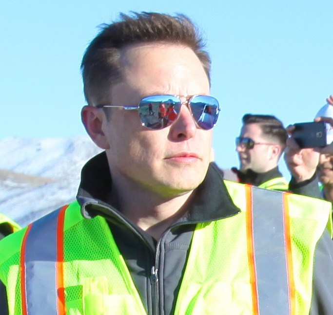 Tesla CEO Elon Musk at the battery factory, w/ photo taken by investor and friend Steve Jurvetson.