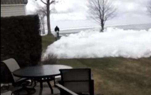 Жуткое явление природы   наступление ледника (Видео)