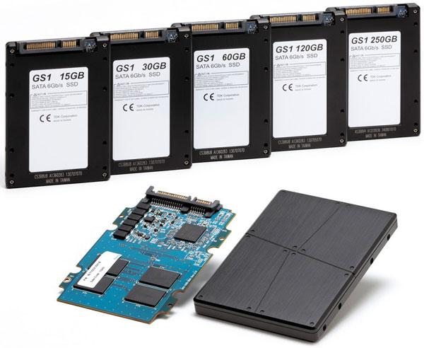 Твердотельные накопители TDK SDS1B оснащены интерфейсом SATA 6 Гбит/с