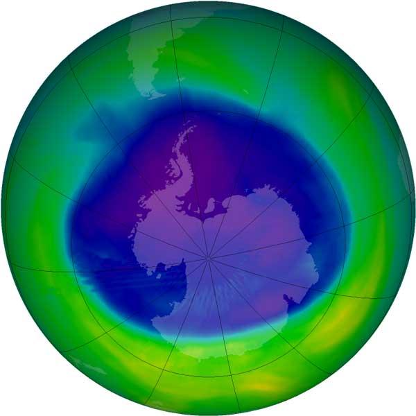 NASA: озоновая дыра над Антарктикой постепенно затягивается и может исчезнуть к концу 21-го века - 1