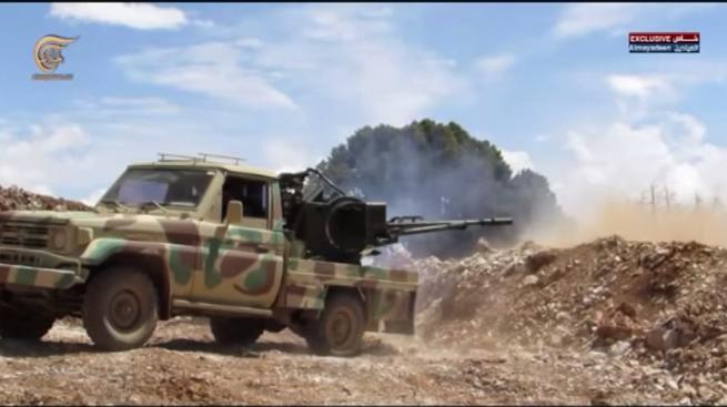 Боевое применение мультикоптера в Сирии - 2