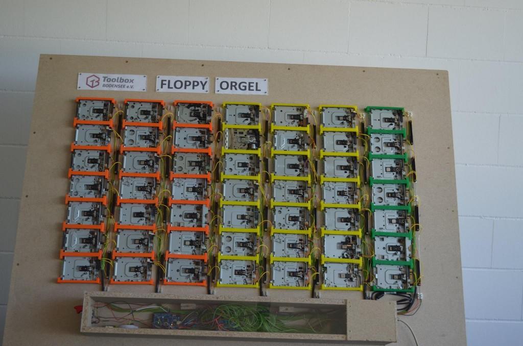 Floppy Organ: «орган» из дисководов для дискет - 1