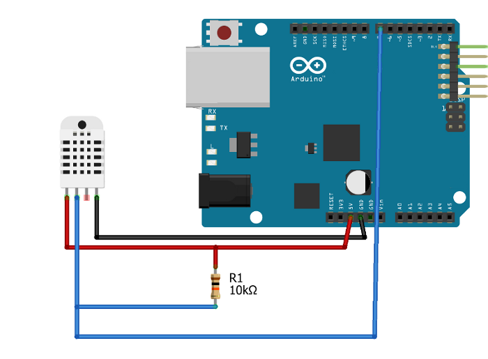NetSensor step 2: Connect bump switch and DHT22