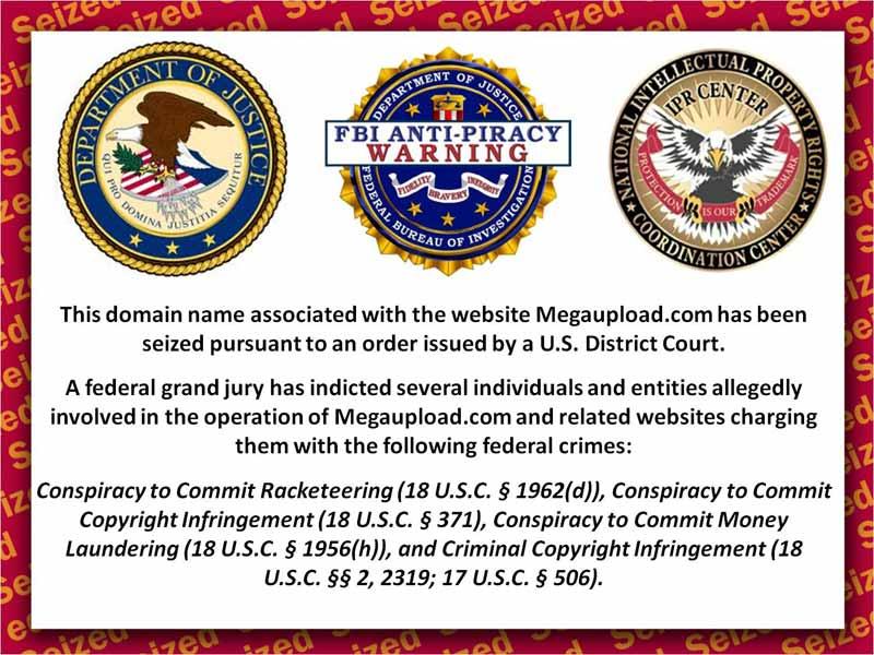 Изъятые правительством США домены Megaupload сейчас залинкованы на malware и рекламу - 1