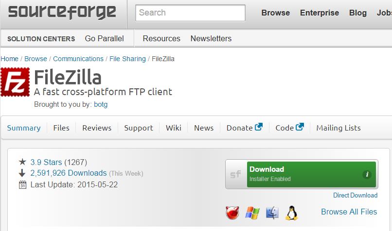 SourceForge опять пытается навязать adware проектам open source - 2