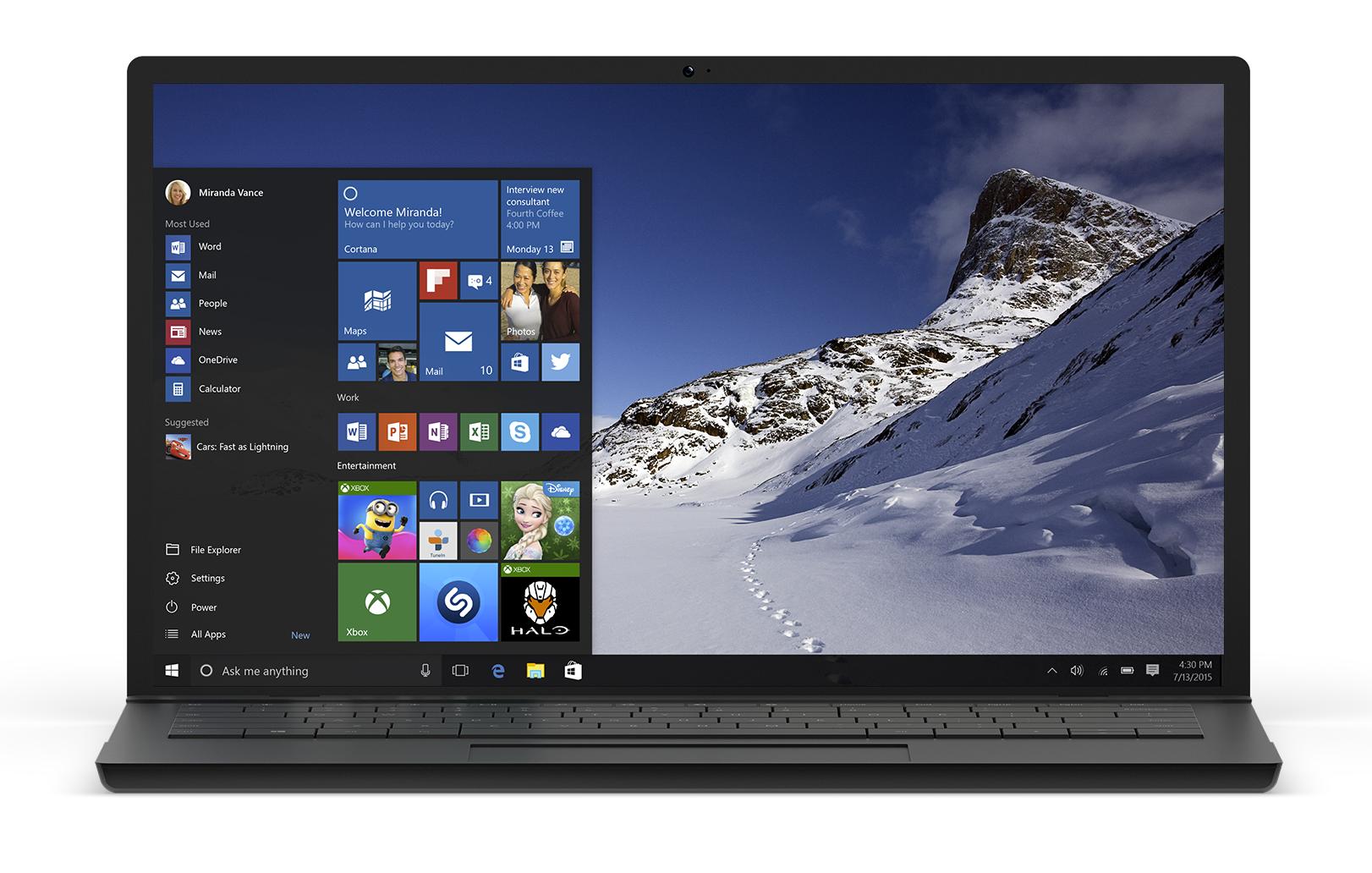 Windows 10 выходит 29 июля - 1