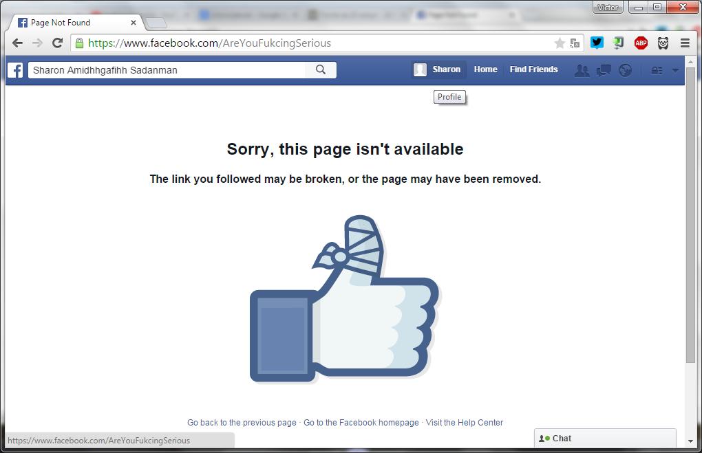 Как навсегда уничтожить юзернейм в Фейсбук и почему саппорту всё равно - 1