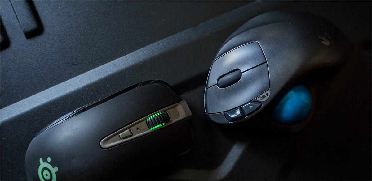 Мышь наоборот: Logitech M570 - 10
