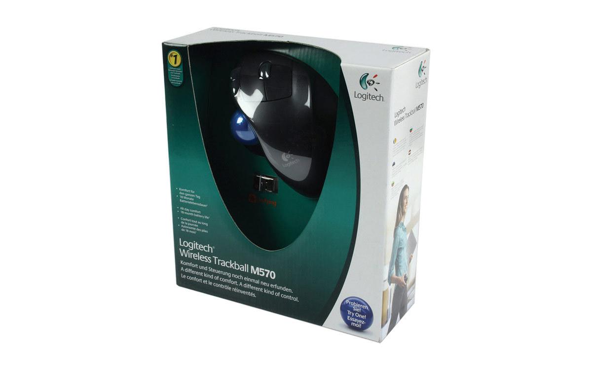 Мышь наоборот: Logitech M570 - 2